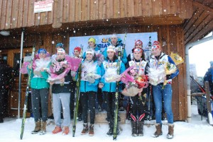 podium relais mixte